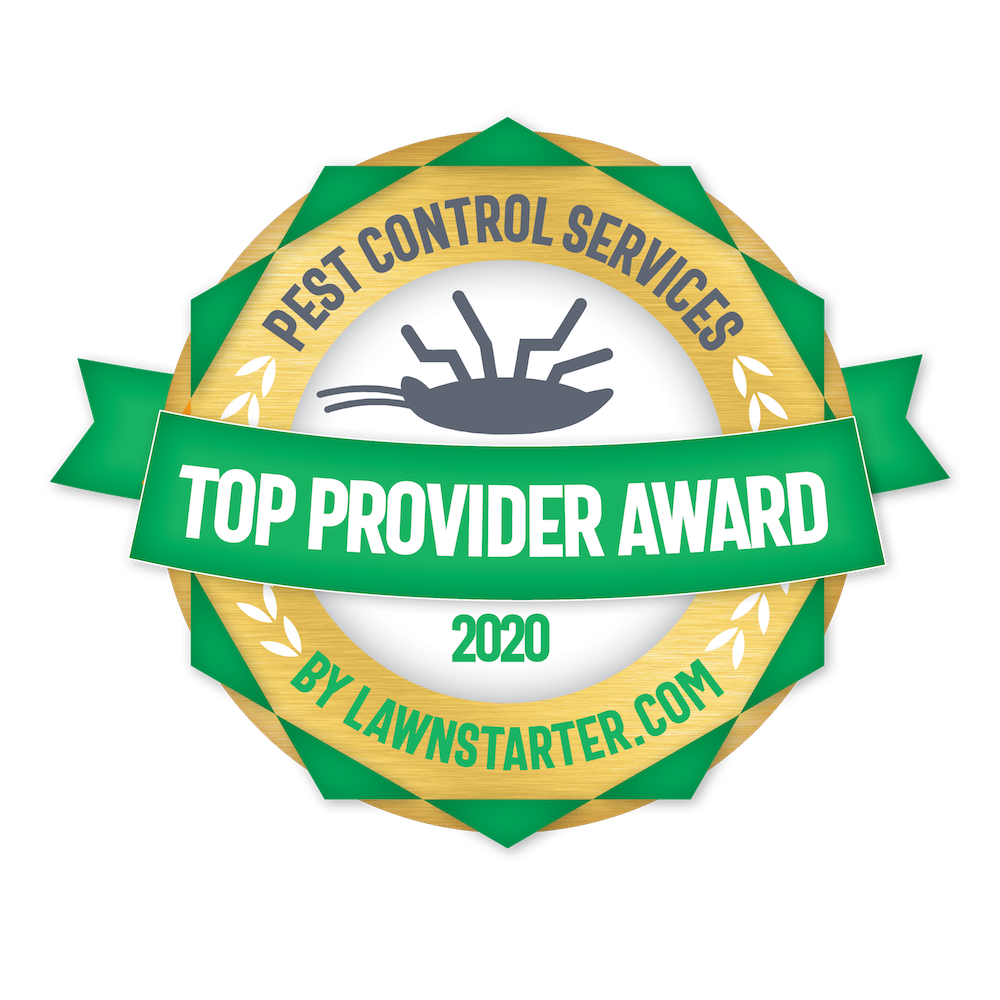 Lawn Starter Award 2020 Top Provider Award for Pest Control Services
